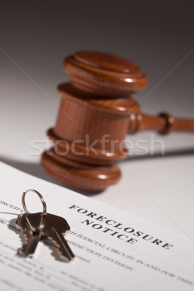 Foreclosure Notice, Gavel and House Keys Stock photo © feverpitch