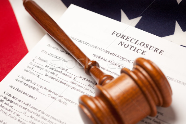 Gavel, American Flag and Foreclosure Notice Stock photo © feverpitch