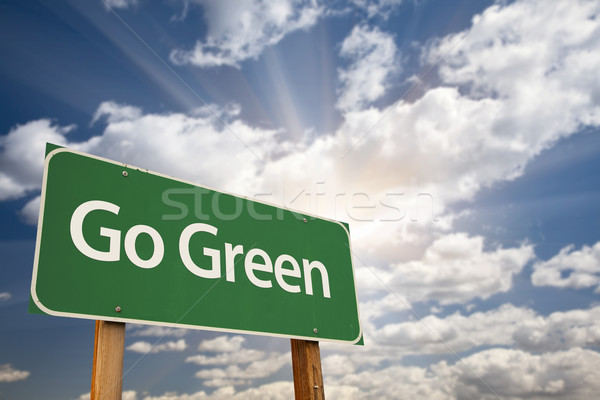 Go Green Road Sign Stock photo © feverpitch