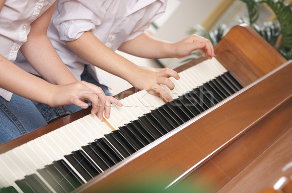 Children Playing the Piano Stock photo © feverpitch