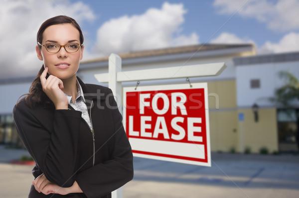Vrouw teken aantrekkelijk ernstig Stockfoto © feverpitch