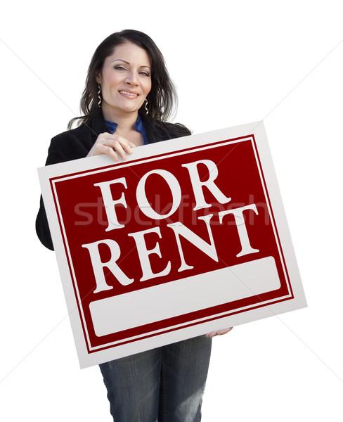 ヒスパニック 女性 家賃 にログイン 白 ストックフォト © feverpitch