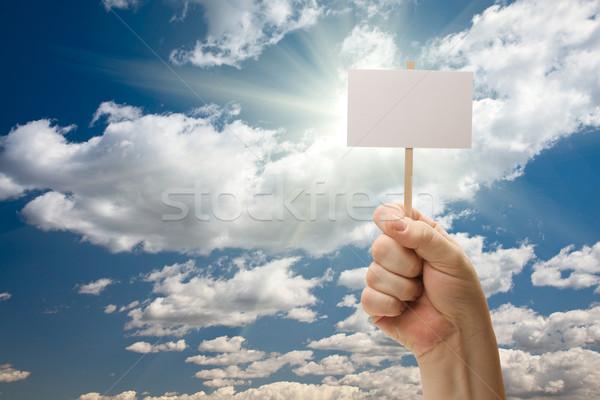 Foto stock: Hombre · nubes · cielo · dramático