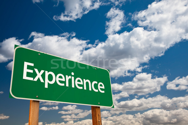 Experience Green Road Sign Stock photo © feverpitch