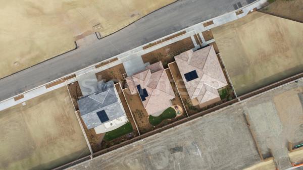 Légifelvétel otthon építkezés végső színpad ház Stock fotó © feverpitch