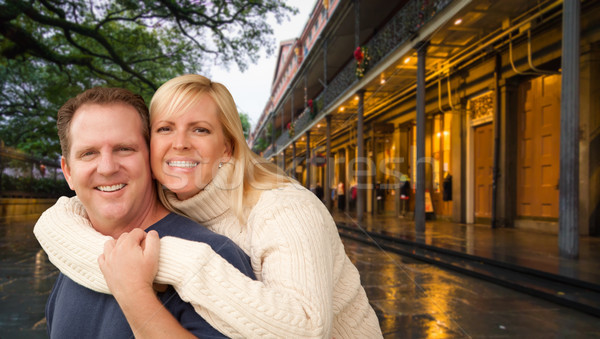 Happy Couple Enjoying an Evening in New Orleans, Louisiana Stock photo © feverpitch
