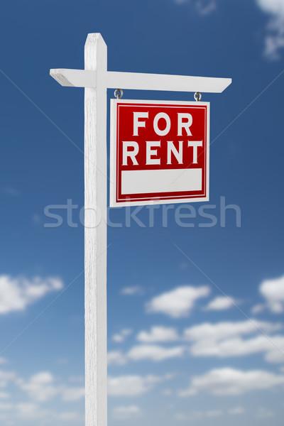 Direito alugar imóveis assinar blue sky Foto stock © feverpitch