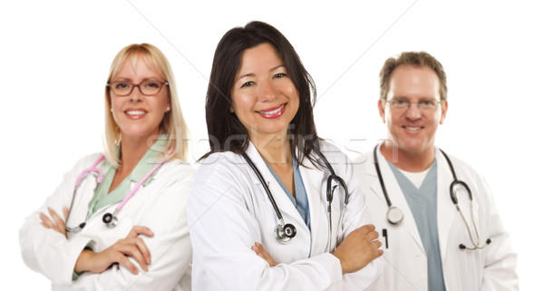 Hispanic Female Doctor and Colleagues Stock photo © feverpitch