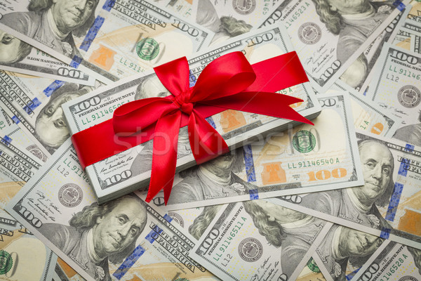 Wrapped Newly Designed U.S. One Hundred Dollar Bills Stock photo © feverpitch