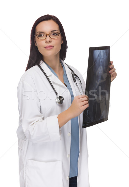 Female Doctor or Nurse with X-Ray Looking To The Side Stock photo © feverpitch