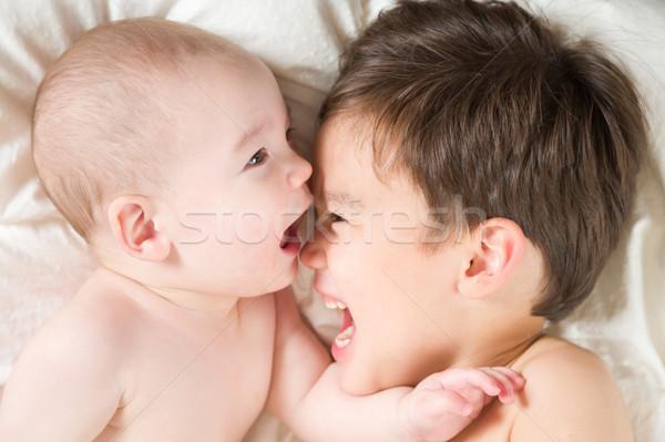 Сток-фото: китайский · кавказский · ребенка · братья