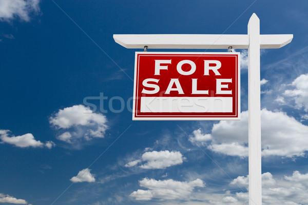 Szemben vásár ingatlan felirat kék ég felhők Stock fotó © feverpitch