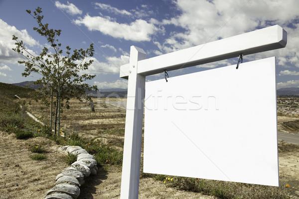 Photo stock: Immobilier · signe · vide · construction · prêt · propre