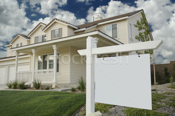 Blank Real Estate Sign & Home Stock photo © feverpitch