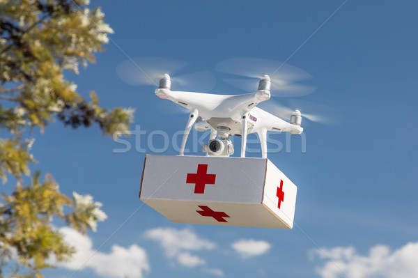Unmanned Aircraft System (UAS) Quadcopter Drone Carrying First A Stock photo © feverpitch