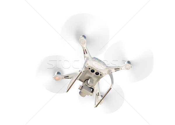 Drone Quadcopter From Below Isolated On A White Background Stock photo © feverpitch