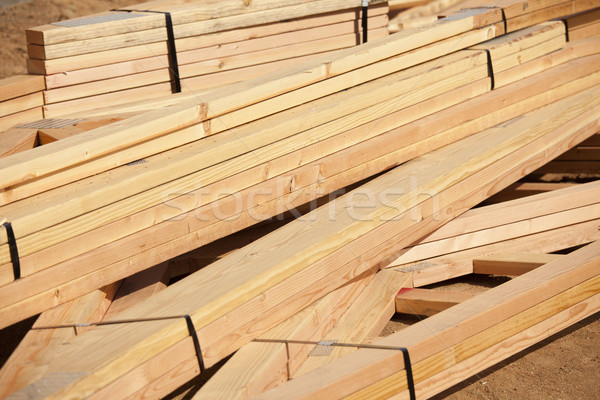 Abstract of Construction Wood Stack Stock photo © feverpitch