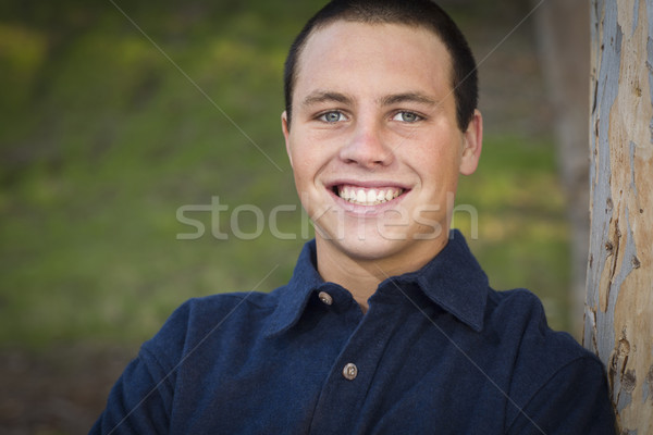 Handsome Young Boy Portrait Stock photo © feverpitch