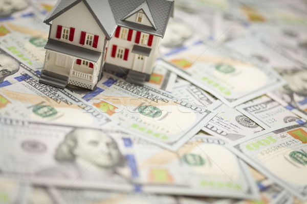 Small House on Newly Designed One Hundred Dollar Bills Stock photo © feverpitch