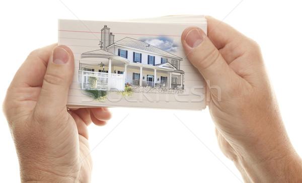 мужчины рук Flash карт Сток-фото © feverpitch