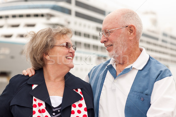 Wal cruiseschip mannen schip leuk Stockfoto © feverpitch