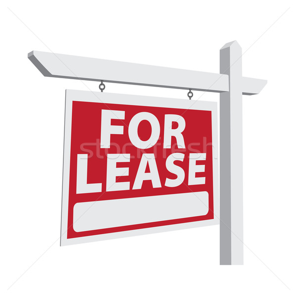 For Lease Vector Real Estate Sign Stock photo © feverpitch