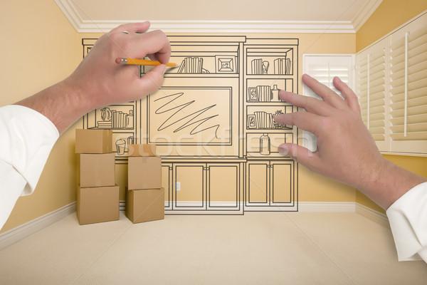 Stockfoto: Handen · tekening · entertainment · eenheid · kamer