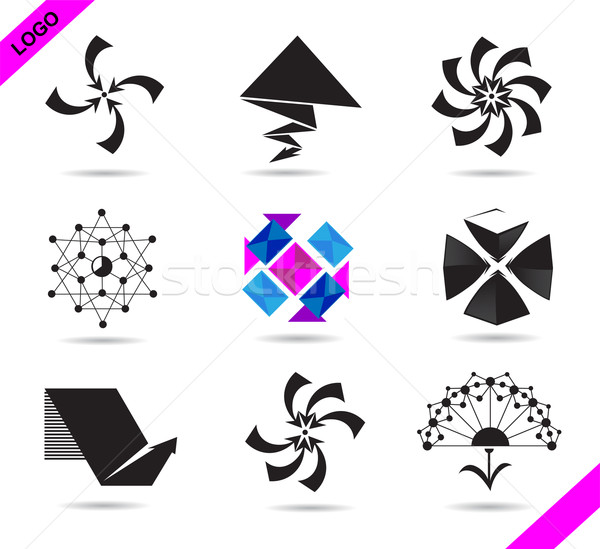 Set of logos Stock photo © FidaOlga