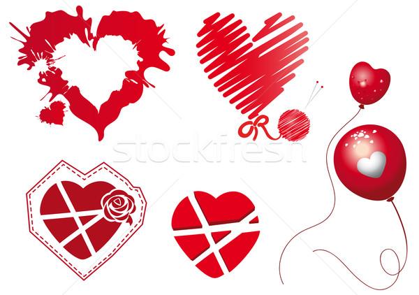red hearts Stock photo © FidaOlga