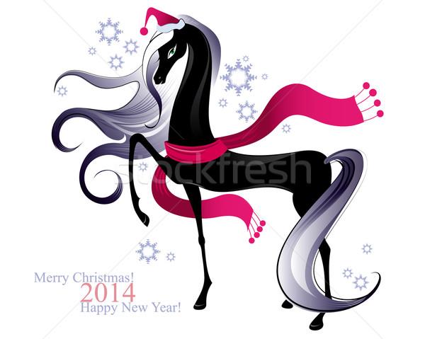 Christmas horse Stock photo © FidaOlga