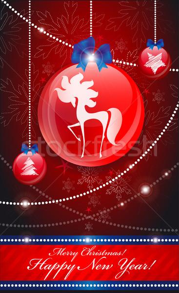Christmas tree decorations Stock photo © FidaOlga