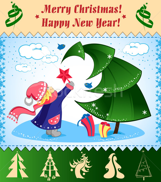 Christmas illustration Stock photo © FidaOlga