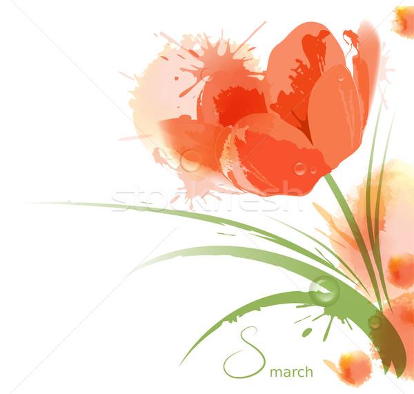 Flower watercolor background Stock photo © FidaOlga