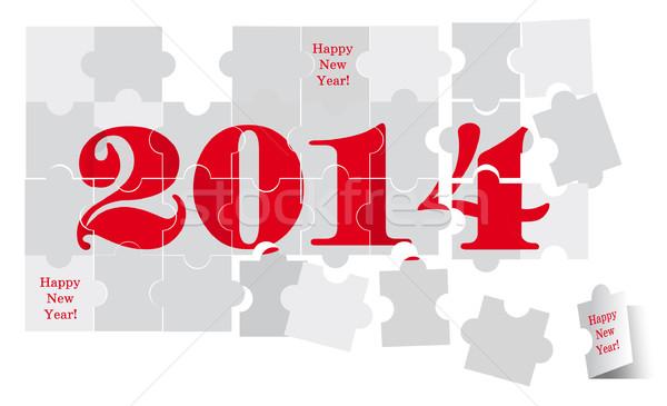 Новый год 2014 красный Сток-фото © FidaOlga