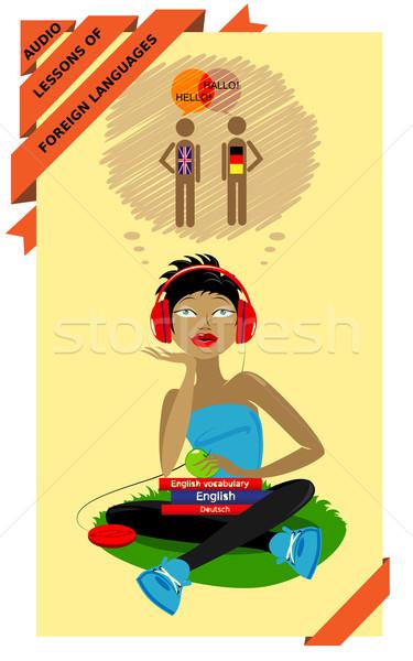 Audio lessons of foreign languages Stock photo © FidaOlga
