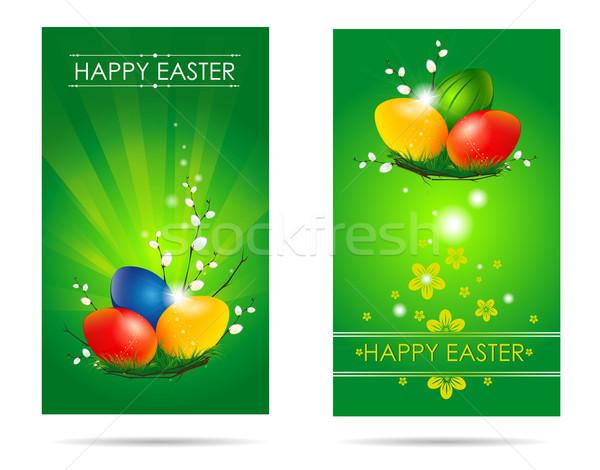 カード 2 緑 献身的な 休日 ストックフォト © FidaOlga