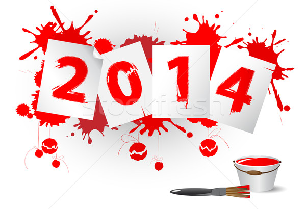 New year 2014 Stock photo © FidaOlga