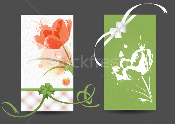 Postcards with pictures of flowers Stock photo © FidaOlga