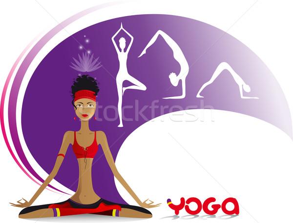 practice of yoga Stock photo © FidaOlga