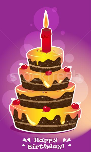Birthday cake Stock photo © FidaOlga