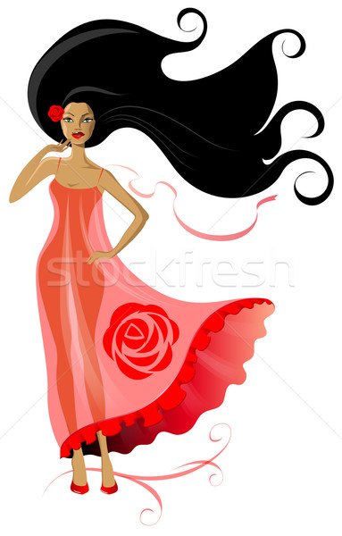 Woman in pink dress Stock photo © FidaOlga