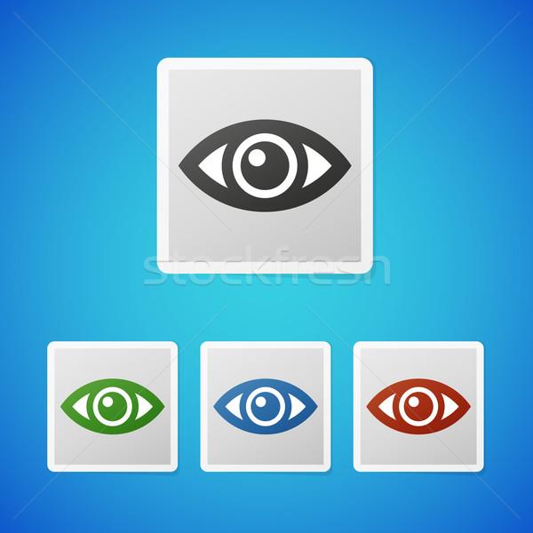 Vecteur oeil propre couleur icône Photo stock © filip_dokladal
