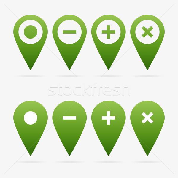 вектора набор зеленый чистой веб символ Сток-фото © filip_dokladal