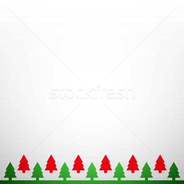 Christmas vector schone kerstboom licht winter Stockfoto © filip_dokladal