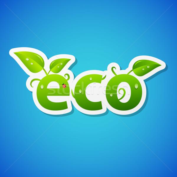 Vector ecology sticker Stock photo © filip_dokladal