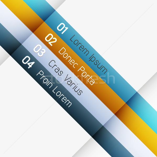 вектора шаблон чистой цвета Инфографика Сток-фото © filip_dokladal