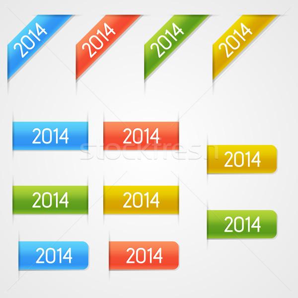 Vector year elements Stock photo © filip_dokladal