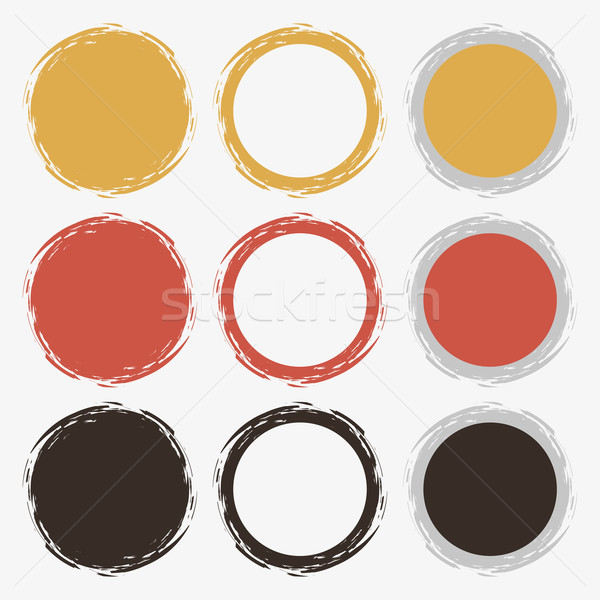 Vecteur brosse propre rétro couleur Photo stock © filip_dokladal