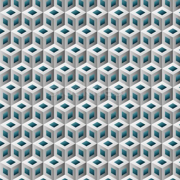 вектора изометрический шаблон бирюзовый чистой Сток-фото © filip_dokladal