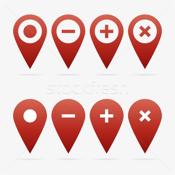 Vecteur rouge propre web symbole Photo stock © filip_dokladal